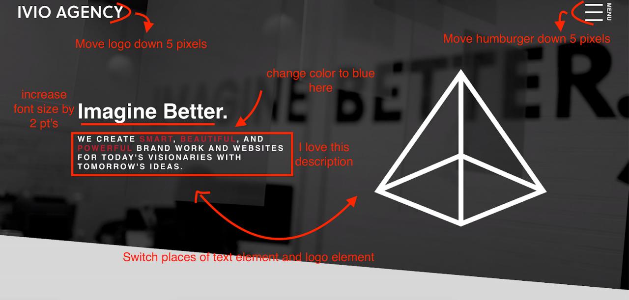 screenshot design feedback